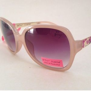 ✨Betsey Johnson Nude colored Floral Arm Sunglasses